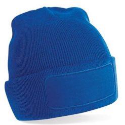 beanie muts blauw