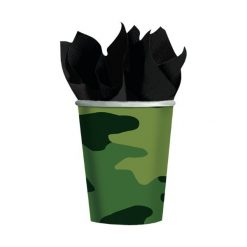 kartonnen camouflage beker traktatie
