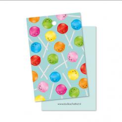 kadolabel lolly patroon mint, kadolabel snoep, kadolabel studio schatkist