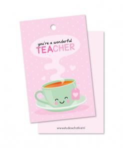 kadolabel you're a wonderful teacher, kadolabel studio schatkist
