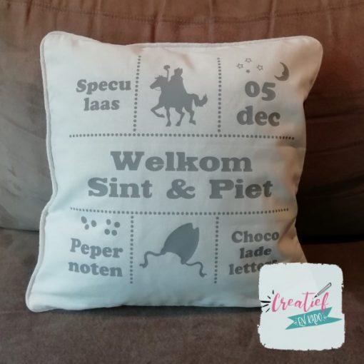 Kussenhoes welkom Sint & Piet, Kussenhoes Sinterklaas