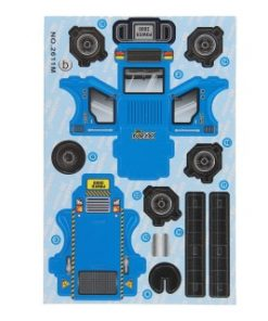 3d bouwvoertuig blauw