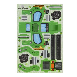3d bouwvoertuig groen