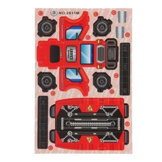 3d bouwvoertuig rood