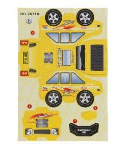 3d race auto geel