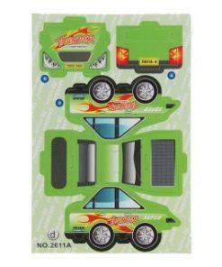 3d race auto groen