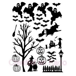 raamsticker halloween aanvulset, thema straatje halloween