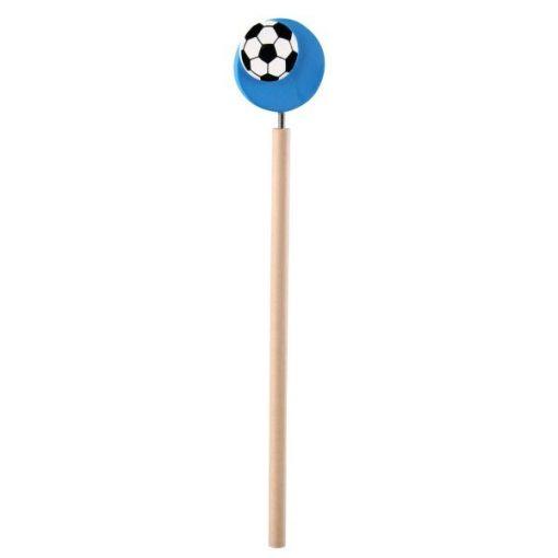 voetbal potlood blauw