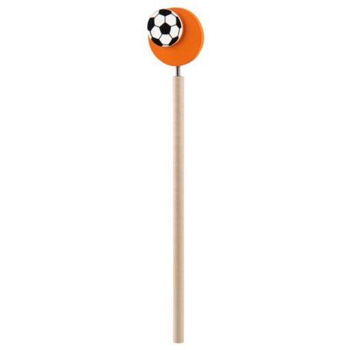 voetbal potlood oranje