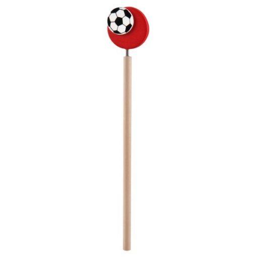 voetbal potlood rood
