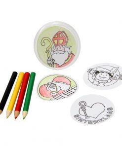 maak je eigen Sint buttons, DIY creatief, creatief Sinterklaas