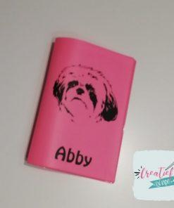 dierenpaspoorthoesje hond roze