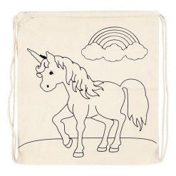 kleur je eigen eenhoorn gymtas, unicorn gymtas