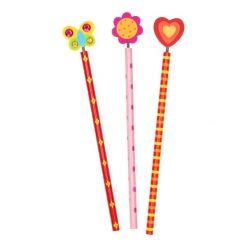 houten potlood Fleur, uitdeelkadootjes, traktatie meisjes