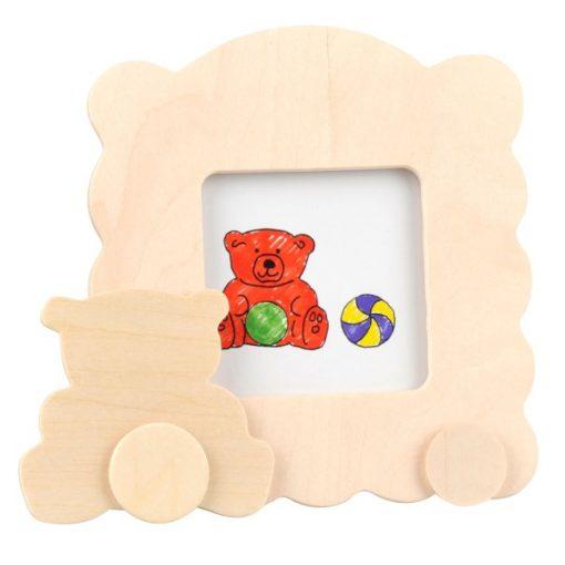 kleur je eigen houten fotolijst, beer, DIY creatief