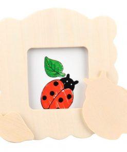 kleur je eigen houten fotolijst,lieveheersbeestje, DIY creatief