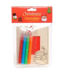 kleur je eigen kerstfotolijste, kerstman, Kerst DIY