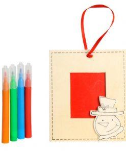 kleur je eigen kerstfotolijstje, sneeuwpop, Kerst DIY