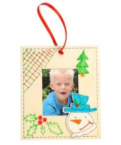 kleur je eigen kerst fotolijstje, kerst KIY