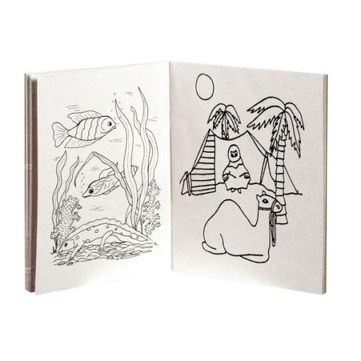 kleurboekje A6, binnenzijde, uitdeelkadootjes