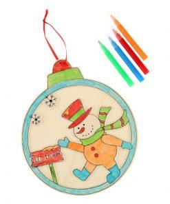 kerstbal kleurset met viltstiften, Kerst DIY
