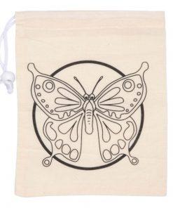kleur je eigen knikkerzakje vlinder
