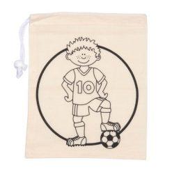 kleur je eigen knikkerzakje voetballer