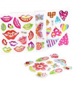 metallic stickers meisjes