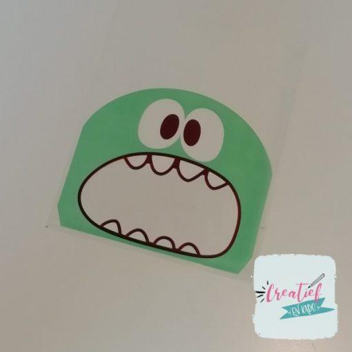 monster traktatie zakje groen