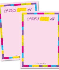 notitieblok notitie-blok-je roze, studio schatkist