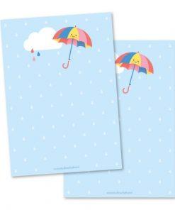 notitieblok paraplu, studio schatkist