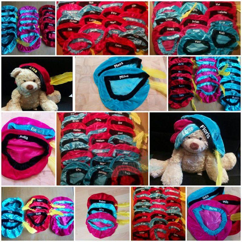 pietenmutsen met naam collage