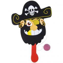 racket piraat met balletjes aan koord