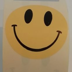 ronde sticker smile, sluitzegel smile