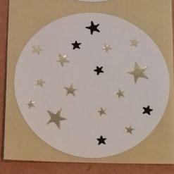 ronde sticker sterren, sluitzegel sterren, Diy materialen traktatie