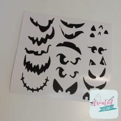 stickervel halloween traktatie gezichtjes