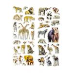 wilde dieren stickervel, dieren stickers, jungle dieren