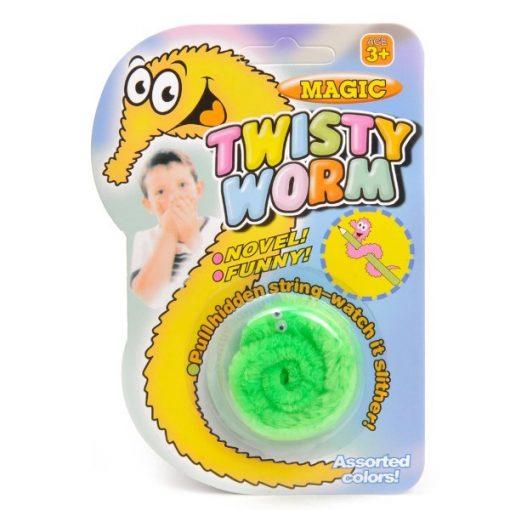 magische worm, kronkelworm, traktatie, uitdeelkadootje, worm groen