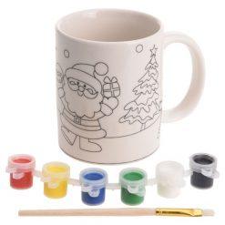 schilder je eigen kerst mok, kerst DIY, DIY creatief