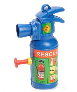 waterpistool brandblusser, brandblusser blauw, brandweer traktatie, uitdeelkadootje