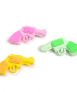 gum pistool, gum geweer, kleur pistool,, kleur traktatie, uitdeelkdootje