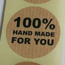 sticker 100% handmade for you, sluitzegel handmade