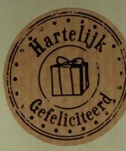 sticker hartelijk gefeliciteerd, sluitzegel gefeliciteerd, sticker felicitatie, kado sticker