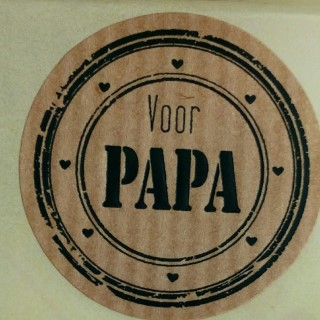 ronde sticker papa, sluitzegel papa, cadeau sticker vaderdag