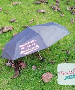paraplu zwart, paraplu voetbal moeder