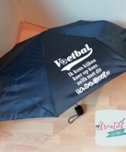 paraplu bedruk, paraplu voetbal moeder, paraplu navy