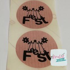 kadosticker feest, ronde sticker feest, sluitzegel feest