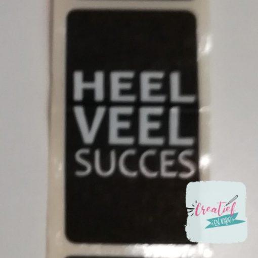 sticker heel veel succes, sluitzegel heel veel succes