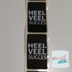 sticker heel veel succes