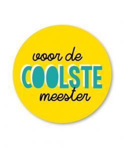sticker voor de coolste meester, sluitzegel voor de coolste meester, studio schatkist